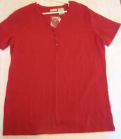 Cabin Creek Womens Medium Red Short Sleeve Shirt