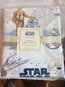 Pottery Barn Organic Twin Star Wars Droid Sheet Set