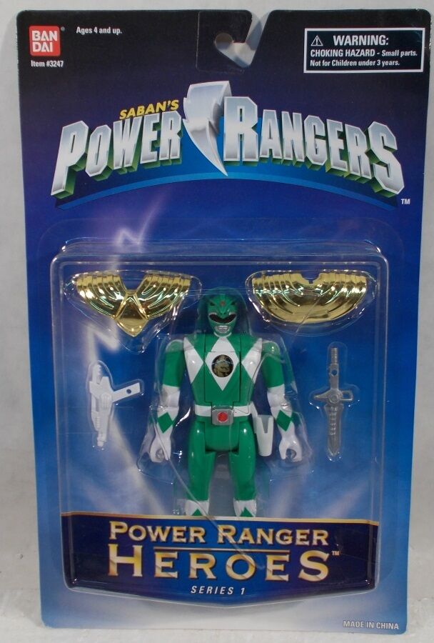 Power Rangers Heroes Series 1 Grün Auto Mighty Morphin' Flip Head  Tommy (MOC)