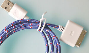 FABRIC-BRAIDED-CHARGER-CABLE-power-USB-data-sync-FOR-apple-iphone-4-4S-ipod-2-3