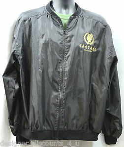 6f94bd293a78 Caesars Palace Indiana NEW Black Gold logo Windbreaker Jacket Size L ...