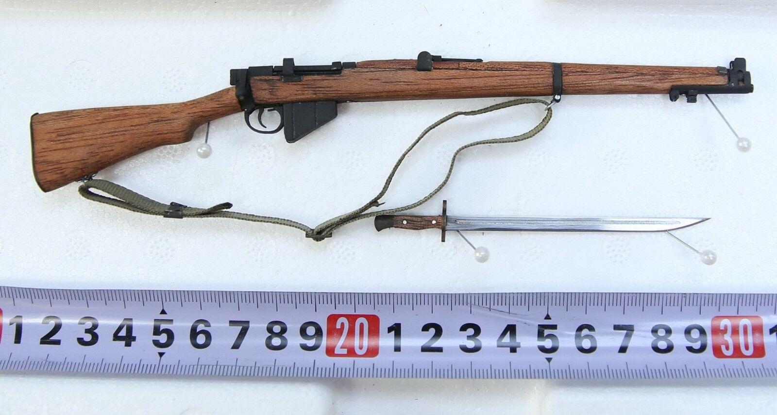 TI-LITE 1 6 Scale WWII British Lee-Enfield Mk III Wood & Metal Rifle w  Bayonet