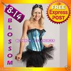 1133 Burlesque Moulin Rouge Corset Costume 8 10 12 14