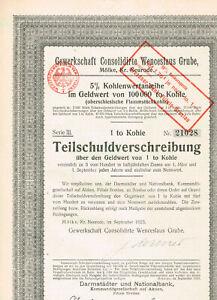 Gewerkschaft-Cons-Wenceslaus-Grube-Moelke-Kr-Neurode-1923-TS-1-to-Kohle-VF