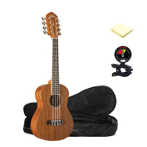 Details about Oscar Schmidt OU28T 8-String Tenor Ukulele in Mahogany with  Bag,Tuner & Cloth