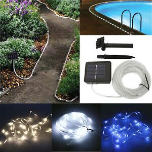 Solar rope light 5m 50 led tube garden outdoor fairy string light image is loading solar rope light 5m 50 led tube garden aloadofball Choice Image