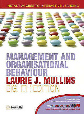 1 of 1 - Management & Organisational Behaviour by Laurie J. Mullins (Paperback, 2007)