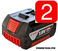 2 X Bosch - 18v 4.0ah Li-Ion baterías (Cool Pack) 2607336815 1600Z00038 1386#
