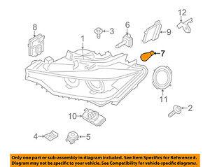 bmw oem 11 16 x3 turn signal light bulb 63217160791 ebay rh ebay com 2007 BMW X3 BMW Suspension Diagram