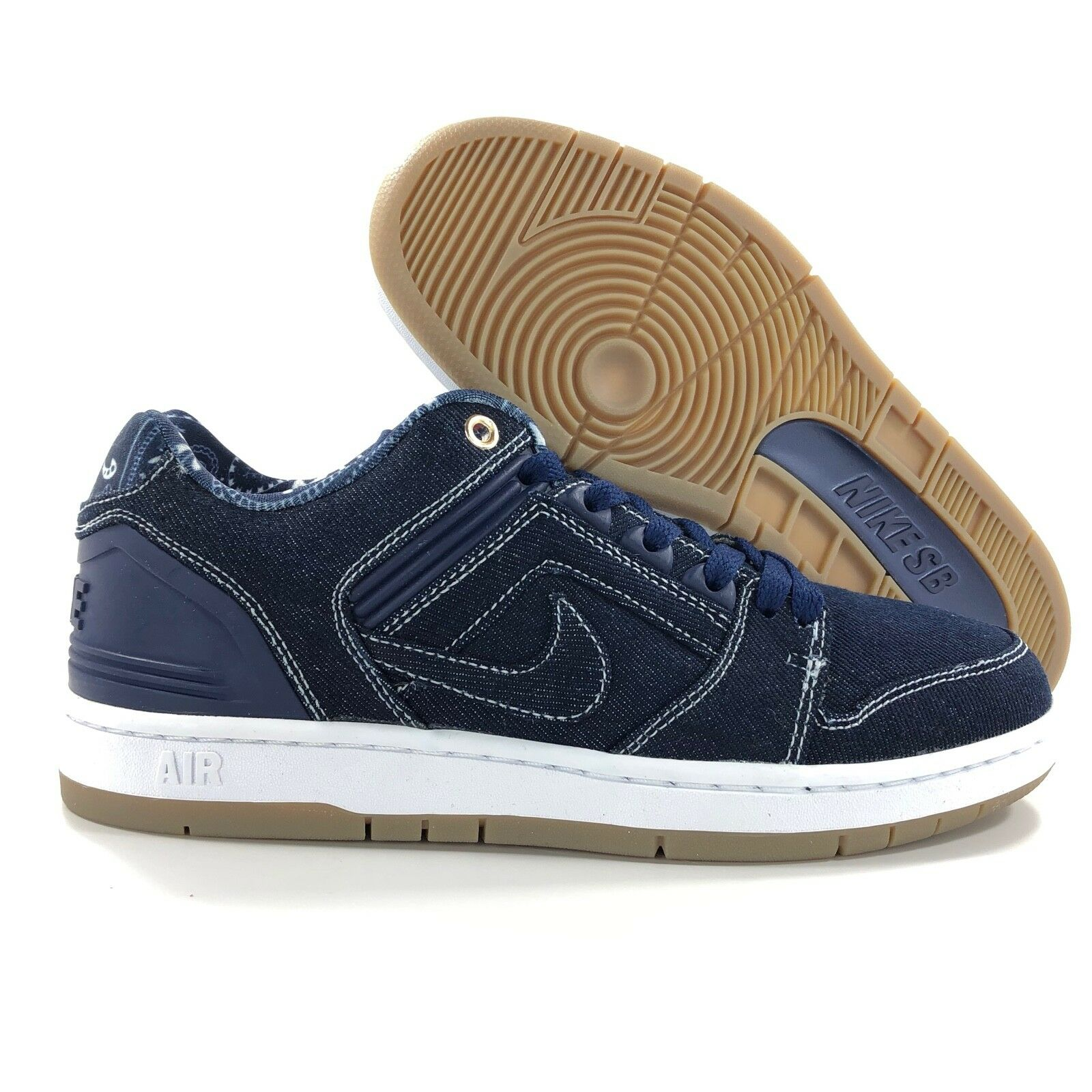 huge selection of free delivery lower price with Nike SB Air Force II 2 Low QS Tupac Denim Binary Blue White AO0298-441 Mens  8-11