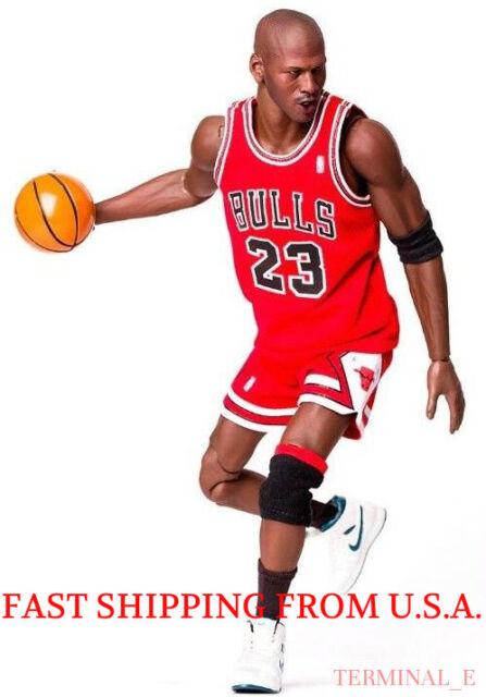 Custom Michael Jordan 1 6 Scale Red Chicago Bulls Jersey 23 For Enterbay  Body 6b00e65b5