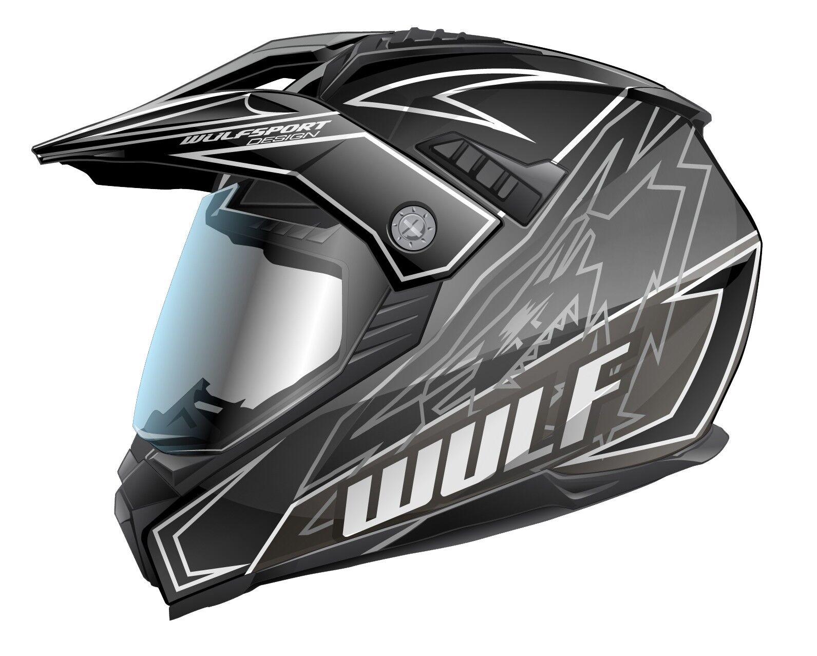 Wulfsport Prima-X Cross Helm M (57-58cm) schwarz Motorrad Quad Fahrrad Enduro BMX