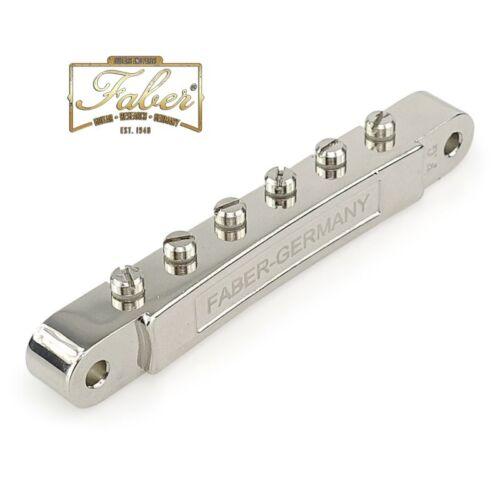 Faber ABR-N-NGN ABRN Bridge For Gibson® ABR-1 Gloss Nickel Nylon saddles 3068-10