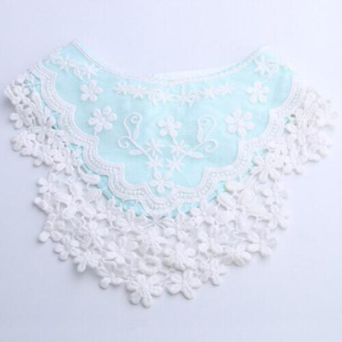 Infant Baby Tassel Saliva Towel Lace Soft Cotton Scarf Triangle Flower Q