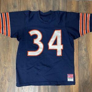 online store 7cc05 071f2 Details about Vintage NFL Chicago Bears Walter Payton Authentic Sand Knit  Medalist Jersey Sz L