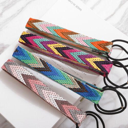 EG/_ Women Ethnic Boho Elastic Braided Headbands Headwear Hair Band Accessory Rap