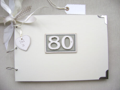 PERSONALISED 80 90 BIRTHDAY A4 SIZE..PHOTO ALBUM//SCRAPBOOK//MEMORY//GUEST BOOK.