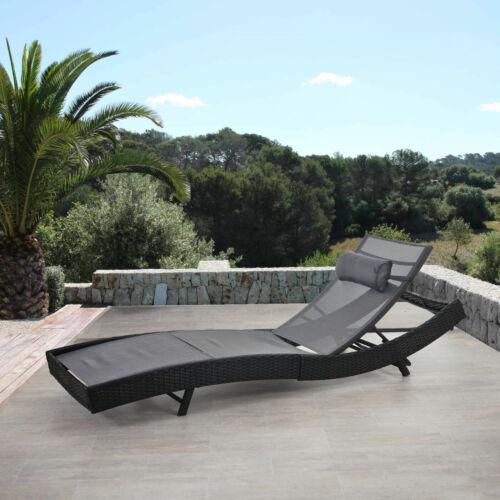 Poly rotin transat transat phoenix référence Gris relax Chaise longue de jardin chaise anthracite