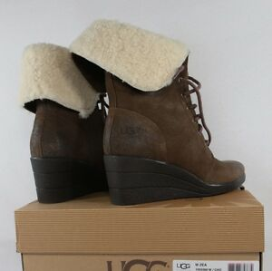 Image is loading UGG-Australia-1003360-Womens-Zea-Boots-Platform-Wedge-