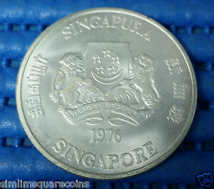 1976-Singapore-Ship-Freighter-10-Commemorative-1-oz-500-Fine-Silver-Coin
