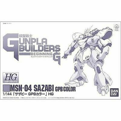 Bandai HG 1/144 Msn-04 Sazabi GPB Color Plastic Model Kit From Japan for  sale online | eBay