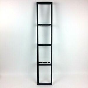 Ikea Lerberg Grey Cd Dvd Video Game Metal Media Wall Mount Shelf Rack Gray Ebay
