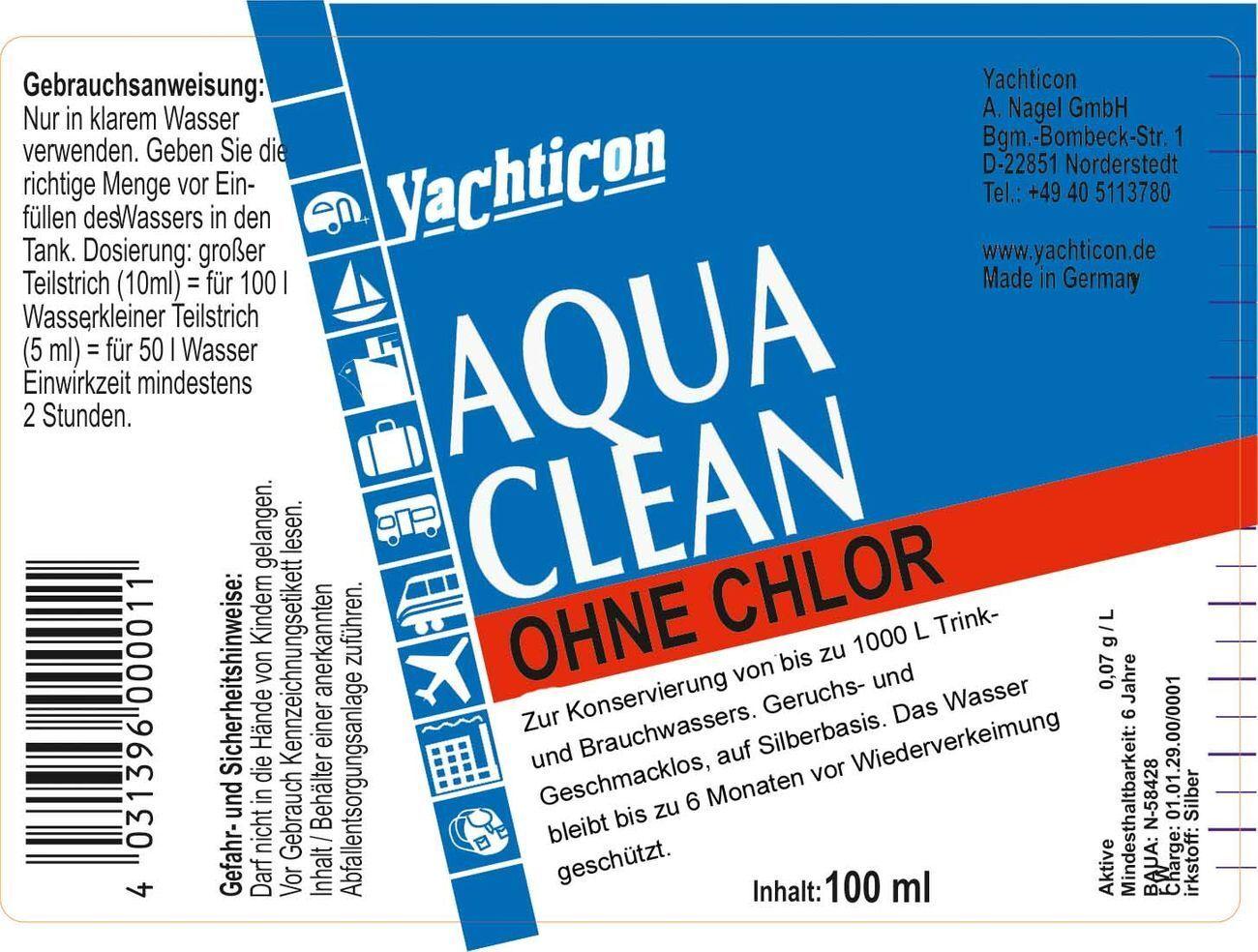 Yachticon Wassertank Wassertank Yachticon Reiniger Set 2 Aqua Clean AC 1000 Clean A Tank Sauerstoff 9adfcd