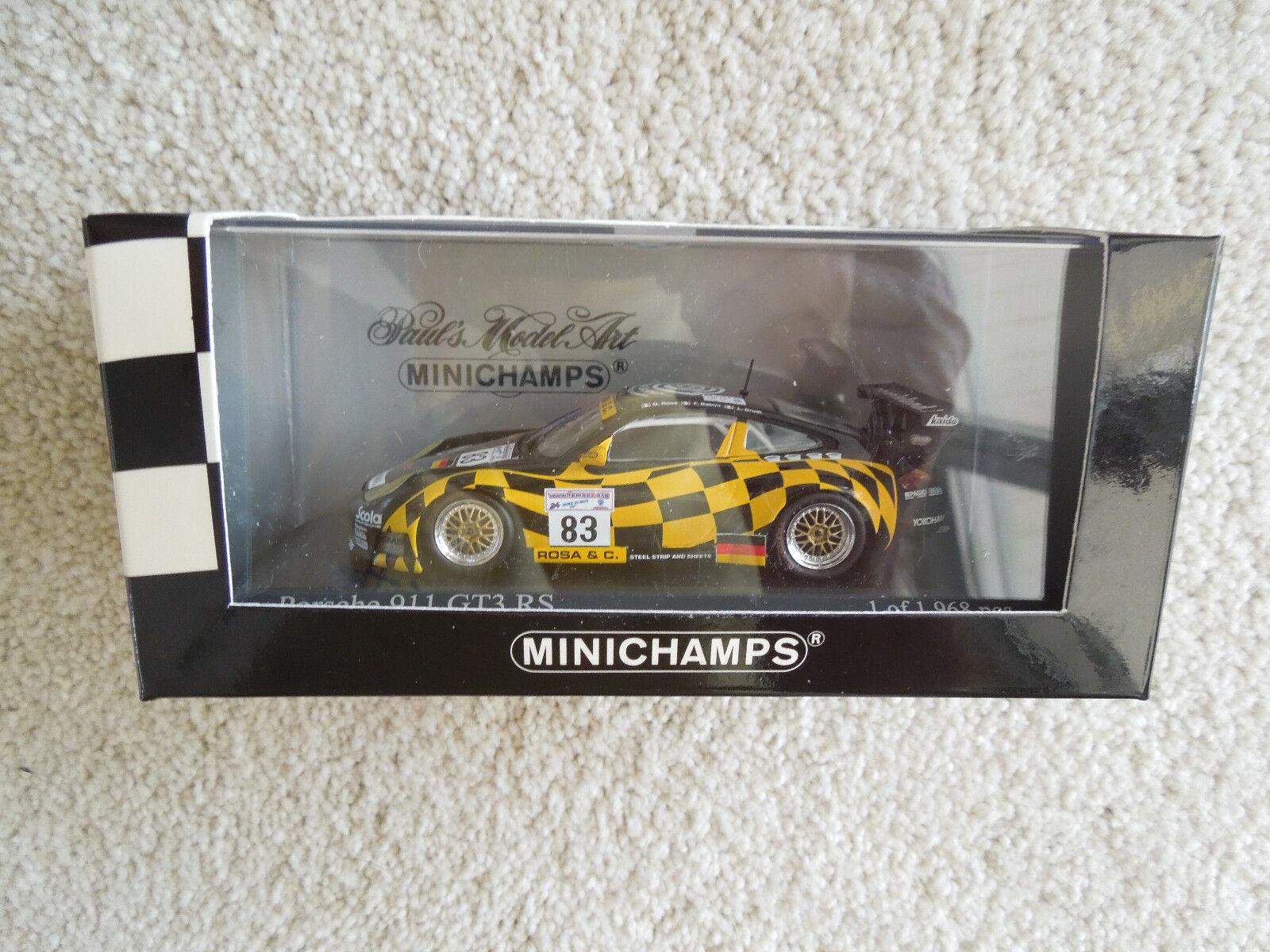 Rare Porsche 911 GT3-RS GT Class Winner 2001 LeMans 24Hrs 1 43 Minichamps