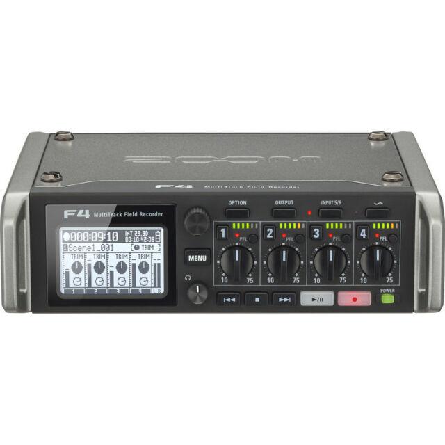Like N E W Zoom F4 Multitrack Recorder 6 Inputs 8 Tracks Opened Box Never Used!