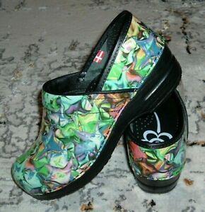 NEW-SANITA-Patent-Leather-Stapled-Clogs-womens-EUR-37-PRISTINE-no-box