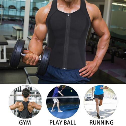 Sport Men Waist Trainer Vest Sauna Sweat Body Shaper Tank Top Slim Trimmer Shirt