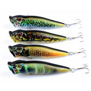4PCS-Set-Colorful-9-5cm-12g-Fishing-Lures-hard-plastic-PopperBass-wobblers