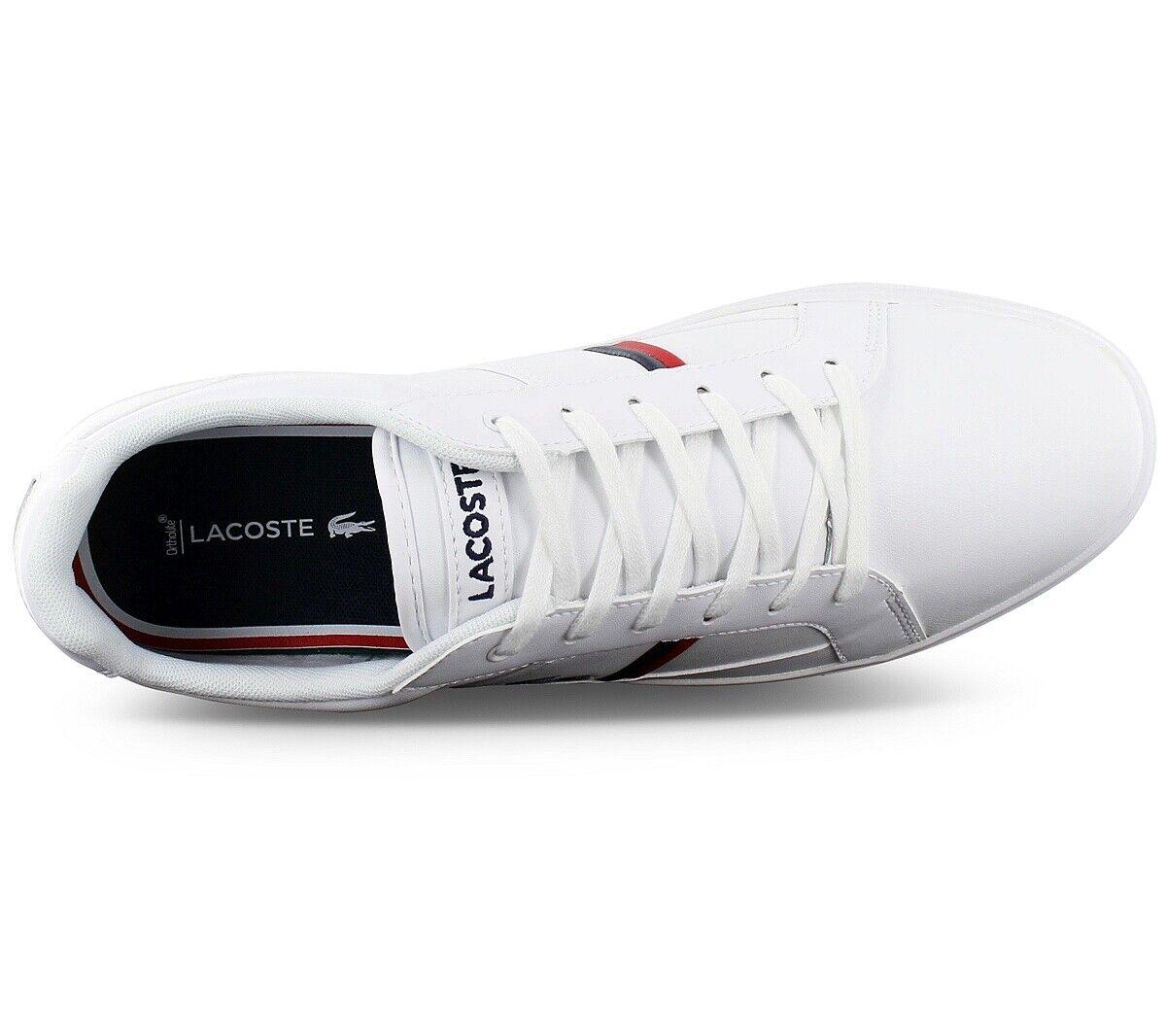 Lacoste europa TRI1 Tricolore Men's Sneaker White 7-39SMA0031407 Casual Shoes