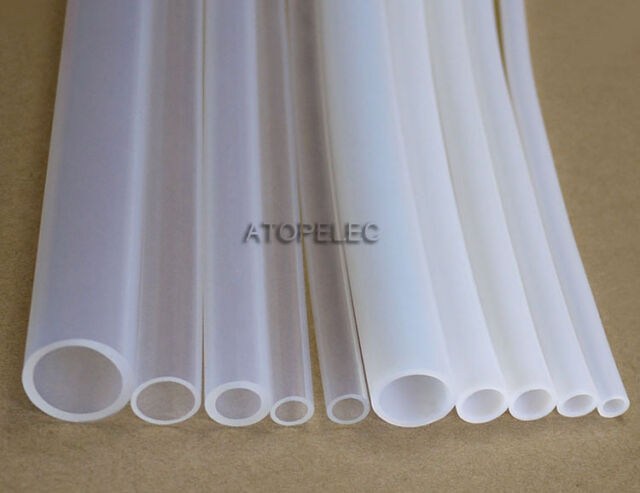 2M PTFE Teflon Tubing Pipe ID_2mm OD_4mm White/Clear