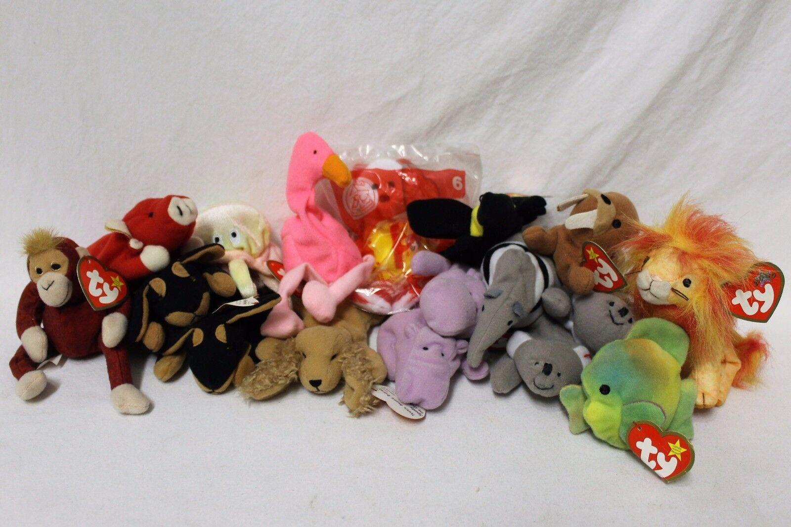 Lot of of of 17 Ty Animal Teenie Beanie Babies 0ef504