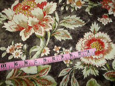 Mill Creek Fabric Jacobean Floral Cotton Drapery Sewing Upholstery Home Dec $35y