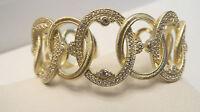 Judith Ripka 14k Clad Sterling Diamonique Cuff Bracelet J328807
