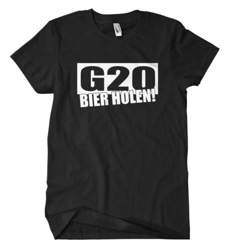 G20 Bier holen T-Shirt Demo Punk Autonom Saufen Anti Kapitalismus Polizei Antifa