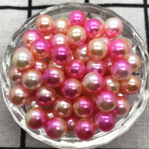 4mm 6mm 8mm 10mm No Hole Acrylic Colour Round Pearl Spacer Beads Jewelry Making