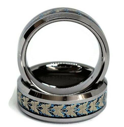 Tungsteno Anillo De Boda anillo de carburo de tungsteno Hombre Plateados Tungsteno Anillo De Boda