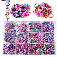 CHIC 10X Wholesale Mix Flex Lip Tongue Eyebrow Piercing Bar Barbell Body Jewelry