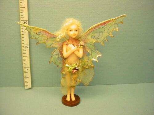 Miniature Fairy Doll with Crossed Arms on Stand by Rani