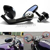Silver 7/8 Bar End Rear Mirrors For Buell Triumph Aprilia Shiver 750 Moto Guzzi