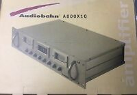 Old School Audiobahn A800x1q Monoblock Rack Mount Amplifier,rare,nib,nos