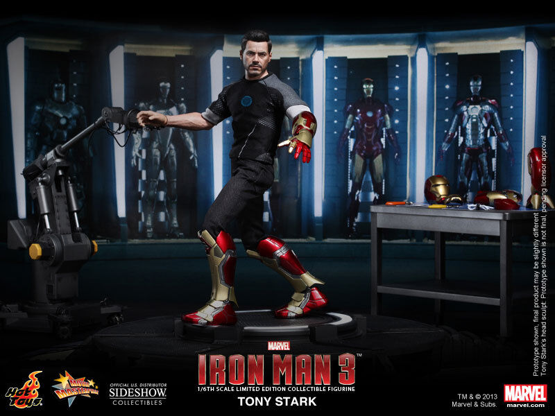HOT TOYS IRON MAN III TONY STARK Armour pruebas Ver. 16 Escala Edición Limitada
