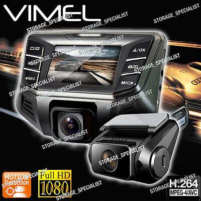 Dual Dash Camera In Car Twin Cam B70S Plus NTK 96655 Crashcam Blackbox 1080P