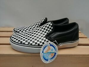 25d892a1d1 Image is loading Woven-Leather-Checkerboard-Vans-Slip-on-50th-Anniversary-