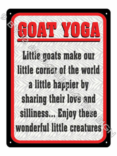 GOAT YOGA work out METAL SIGN funny Awesome Gift yoga class display decor 906