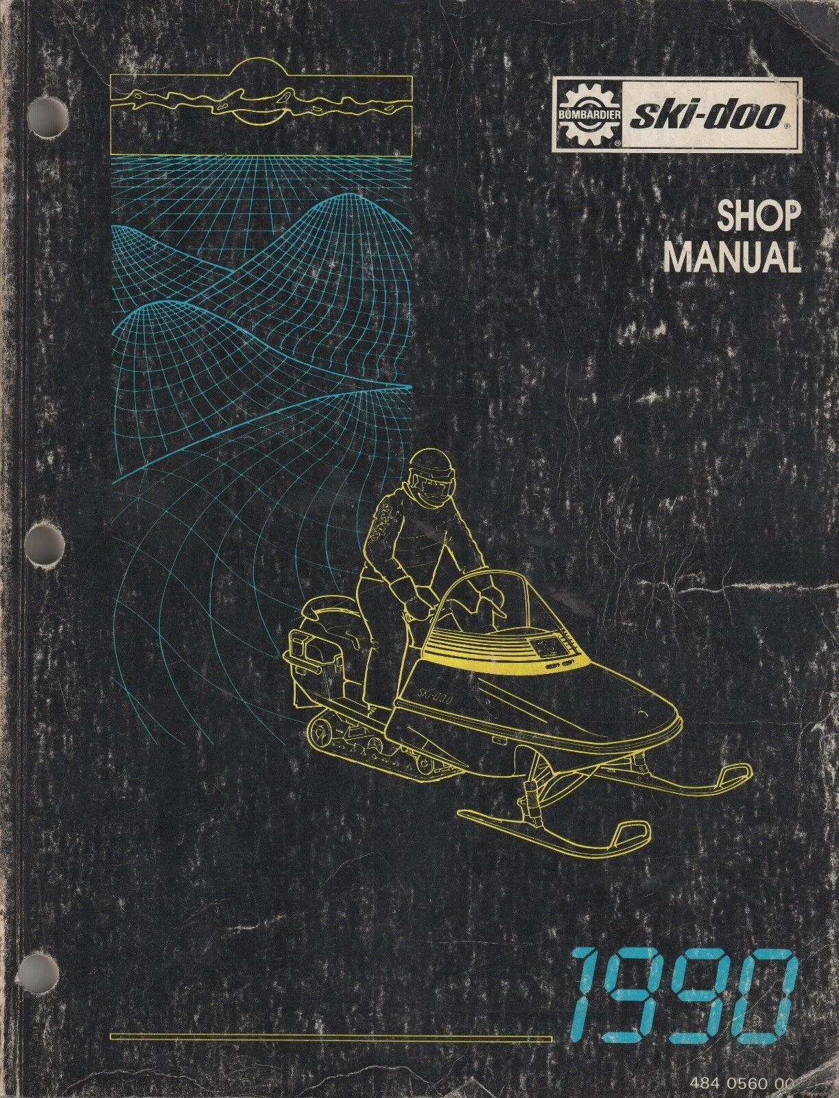 1990 SKI-DOO (see models in description) SHOP SERVICE MANUAL 484 0560 00 (425)