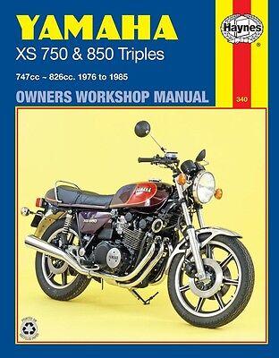 YAMAHA XS750 /& 850 TRIPLES 1976-1985 Haynes Repair Manual 0340